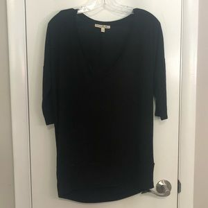 Express Black Flowy Sweater Style Blouse